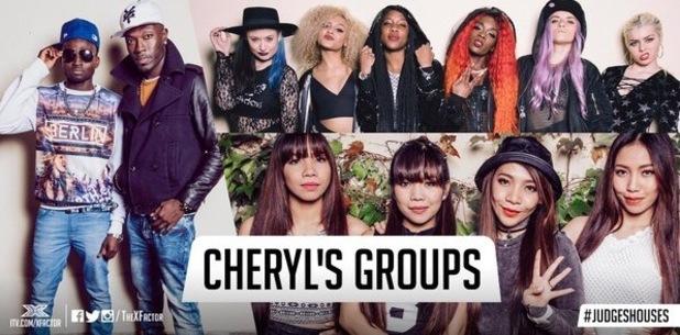 Cheryl Fernandez-Versini and her final three groups, The X Factor 26 October