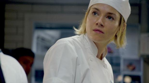 Still from the film Burnt. Sienna Miller stars as Helene.