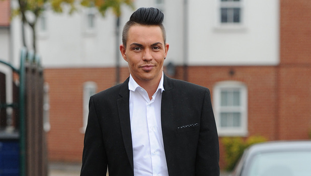 TOWIE cast film James Bond birthday party at The sugar hut - Bobby Norris. 21 October 2015.