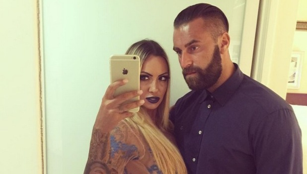 Jodie Marsh poses with husband James Placido, announcing they will both star in upcoming documentary series, 29th October 2015
