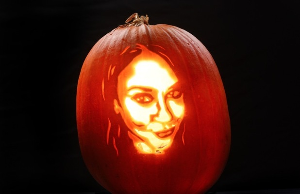 Vicky Pattison - this terrifying tribute has been created by Asda pumpkin artist David Finkle for the supermarket this Halloween. - October 2015
