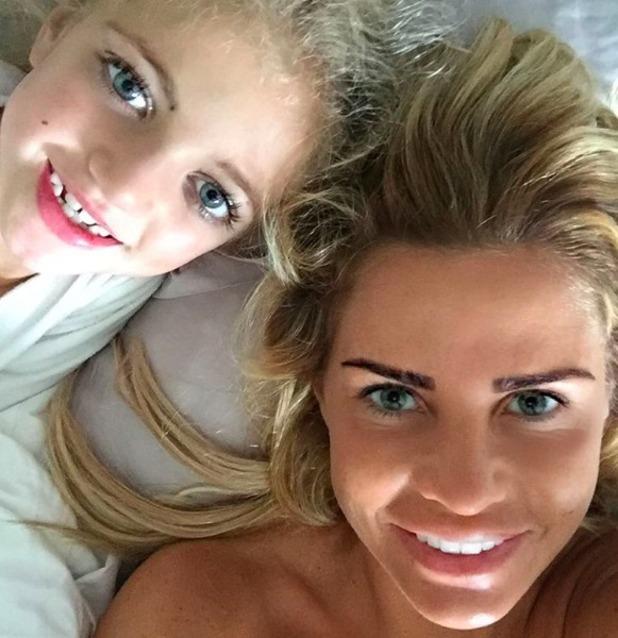 Katie Price and her mini-me daughter Princess Tiaamii, 31 October 2015.