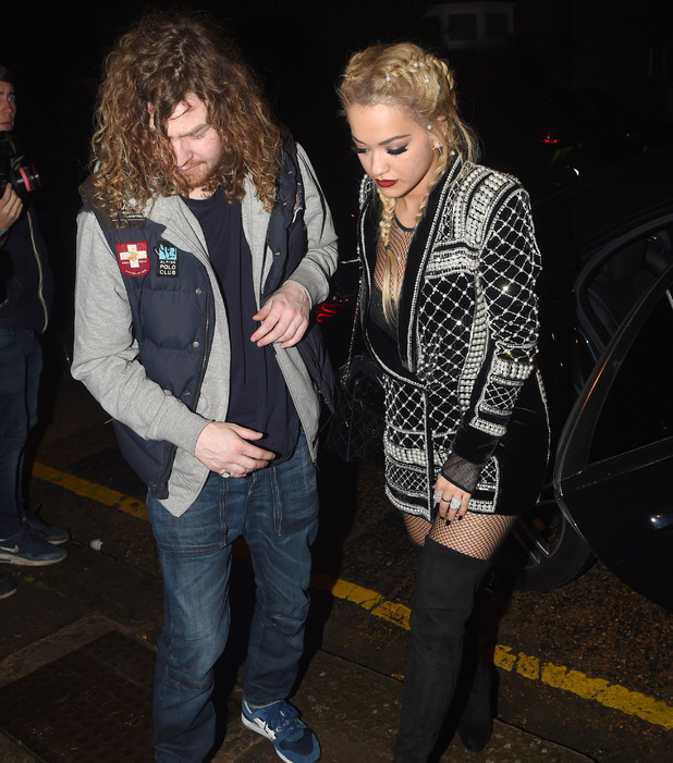 Rita Ora leaving the hiltern Firehouse with mystery man in London, 29th October 2015