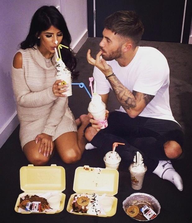 Jasmin Walia and Ross Worswick have late night snack 26 October