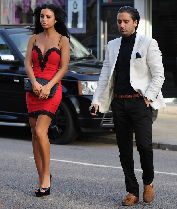 Liam Blackwell brings mystery girl with him to TOWIE filming, Luxe nightclub, Essex 25 October