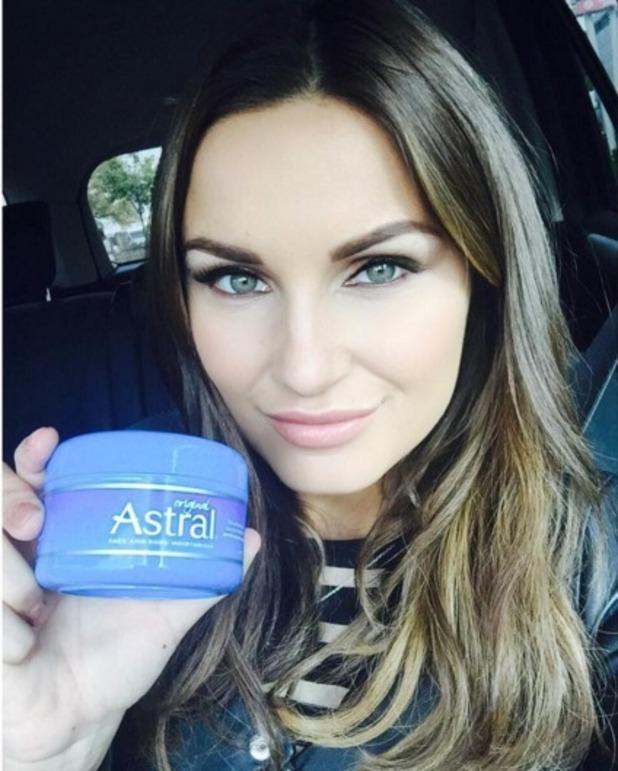 Sam Faiers reveals her skin and make-up must-have, Astral Original All Over Moisturiser, 29 October 2015