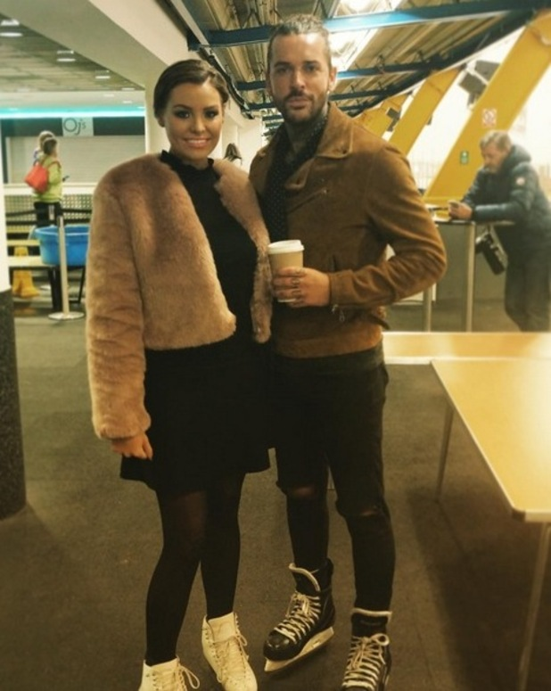 The Only Way is Essex cast filming, Brentwood, Britain - Jessica Wright and Peter Wicks ice skating - 20 Oct 2015.