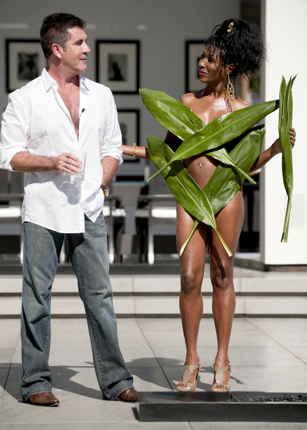 The X Factor - Simon Cowell with guest judge Sinitta - Judge's Home final auditions. October 2009.