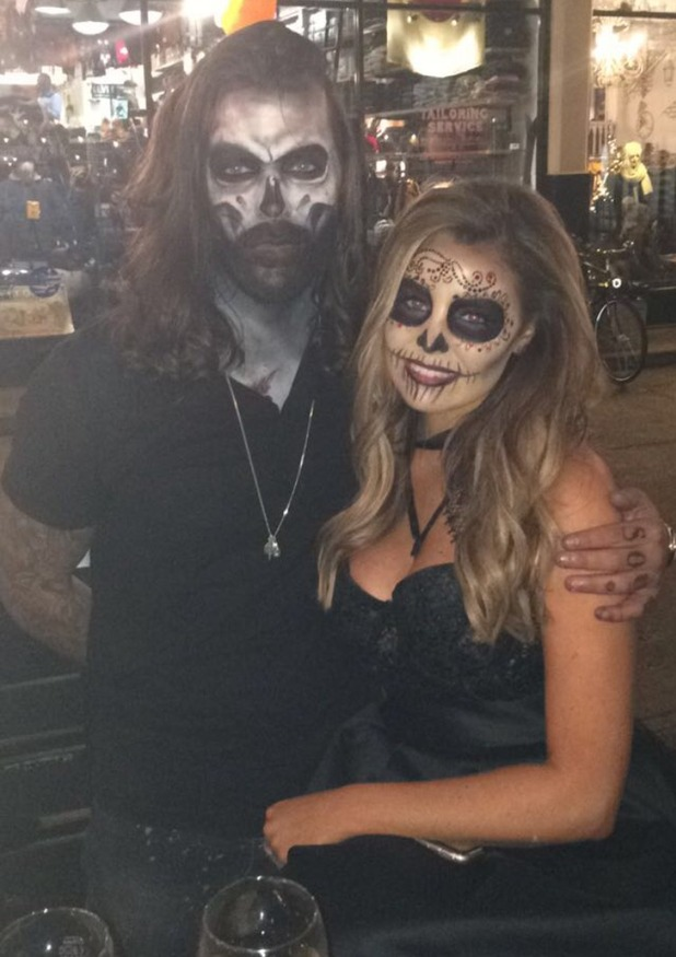 TOWIE's Pete and Jess at the Mexican Day of the Dead party. 28 October 2015.