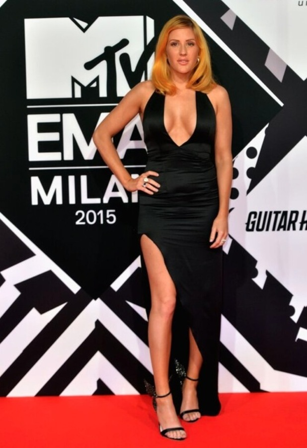 Ellie Goulding arrives at the 2015 MTV EMA Awards in Milan Italy, Tuesday 25th October 2015