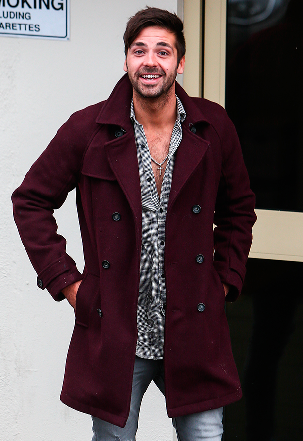 Ben Haenow arrives at Fountain Studios to rehearse his X Factor live show performance 30 Oct 2015