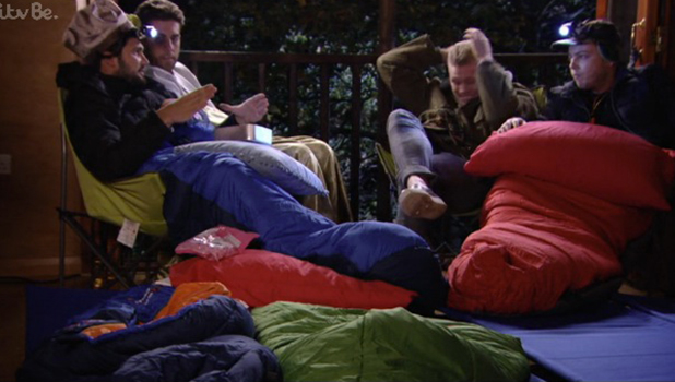 TOWIE episode to air 28 Oct 2015 The boys go camping and talk about Jake