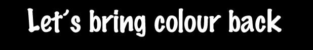 Bobby Norris column - Let's bring colour back.