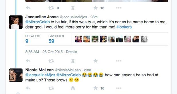 Jacqueline Jossa responds to women's claim that Dan Osborne chatted them up. He denies it.