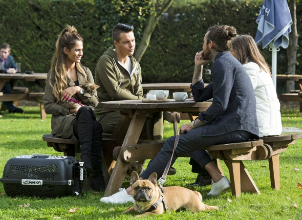 'The Only Way is Essex' cast filming, Brentwood, Britain - 27 Oct 2015 Peter Wicks and dog Ernest