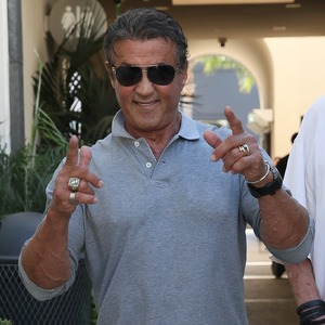 Sylvester Stallone seen leaving Cafe Roma with a friend - 10/29/2015