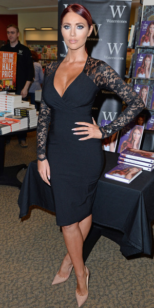 Amy Childs attends her book signing in Manchester 10 October