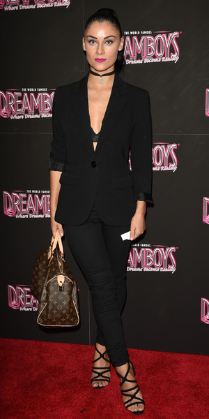 Cally Jane Beech attends The Dreamboys' calendar launch in London 3 November
