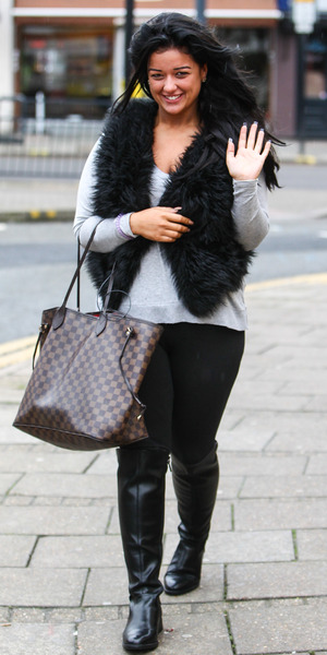 Lauren Murray arrives for final X Factor rehearsals for week two of live shows, London 6 November
