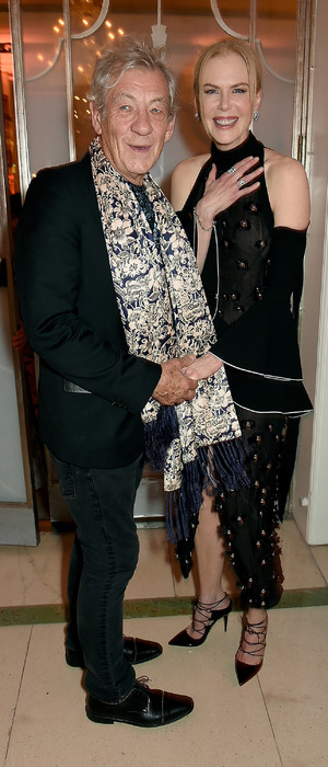 Nicole Kidman attends Harpers Bazaar Women of The Year Awards with Ian McKellen in London, 4th November 2015