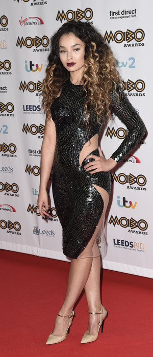 Ella Eyre arrives at the Mobo Awards 2015, in Leeds 5th November 2015
