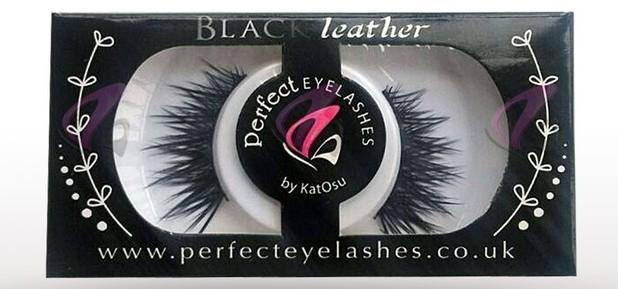 Perfect Eyelashes by Katosu Strip Lashes in Black Leather