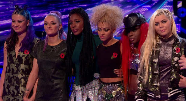 Alien Uncovered after they were eliminated on the results show following the first live show of 'The X Factor' - 1 November 2015.