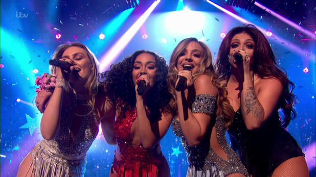 Little Mix perform on stage at the X Factor 2nd November 2015