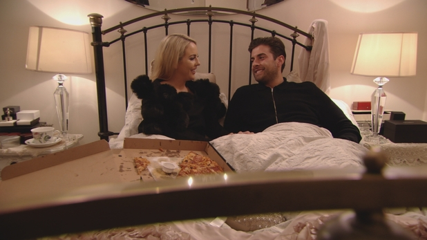 TOWIE: Lydia and Arg in bed. Episode airs: Wednesday 4th November
