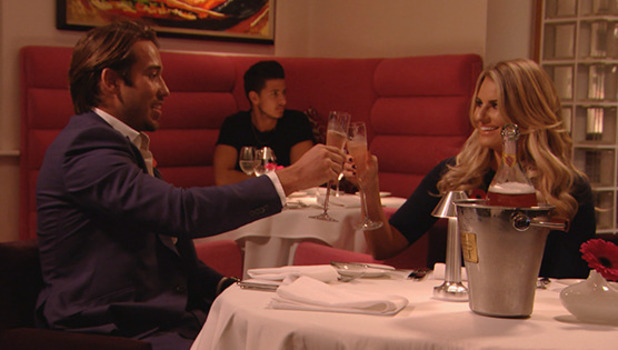 TOWIE episode to air 8 November 2015 Danielle Armstrong and Lockie's champagne dinner