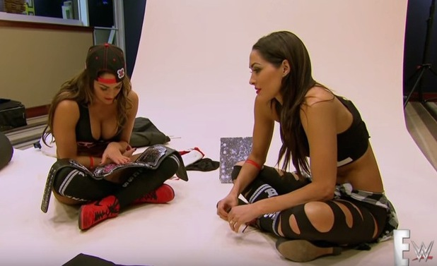 Total Diva stars Nikki Bella and Brie Bella on the show, 8 March