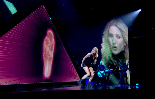 Ellie Goulding performs on The X Factor Results Show, Wembley 1 November