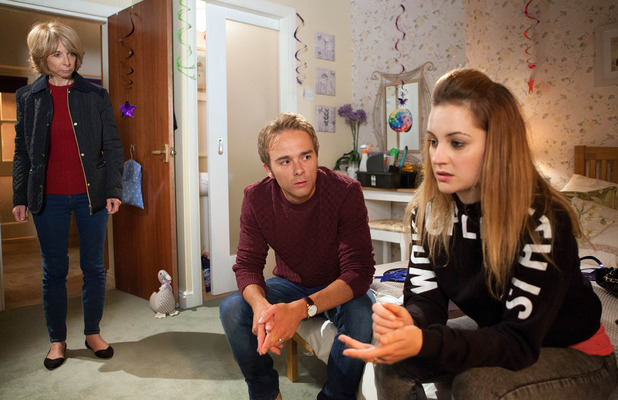 Corrie, Gail overhears David and Kylie talking, Mon 9 Nov