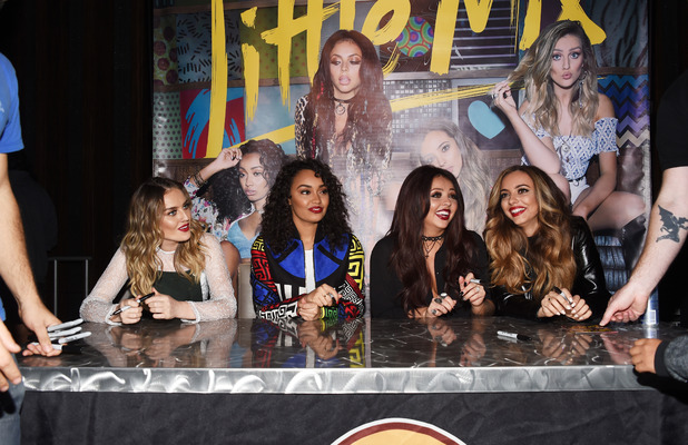 Little Mix at album signing in Los Angeles, 4th November 2015