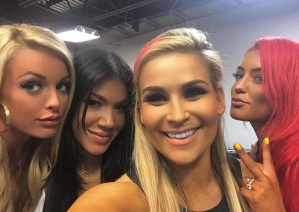 Total Divas star Nattie Neidhart, Amanda Saccomanno, Eva Marie and Rosa Mendes, Instagram
