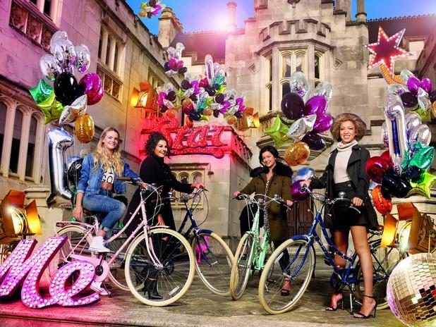 X Factor Very.co.uk photo shoot - Louisa Johnson, Monica Michael, Kiera Weathers and Lauren Murray.