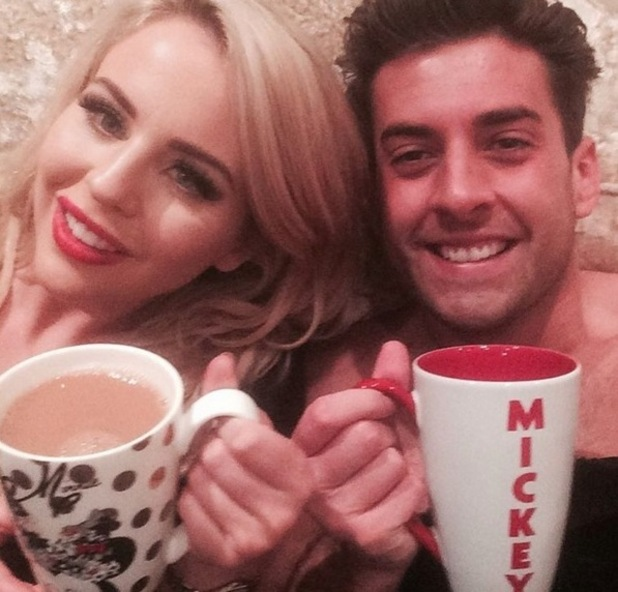 Lydia Bright and James Arg Argent take a selfie after romance troubles 3 November
