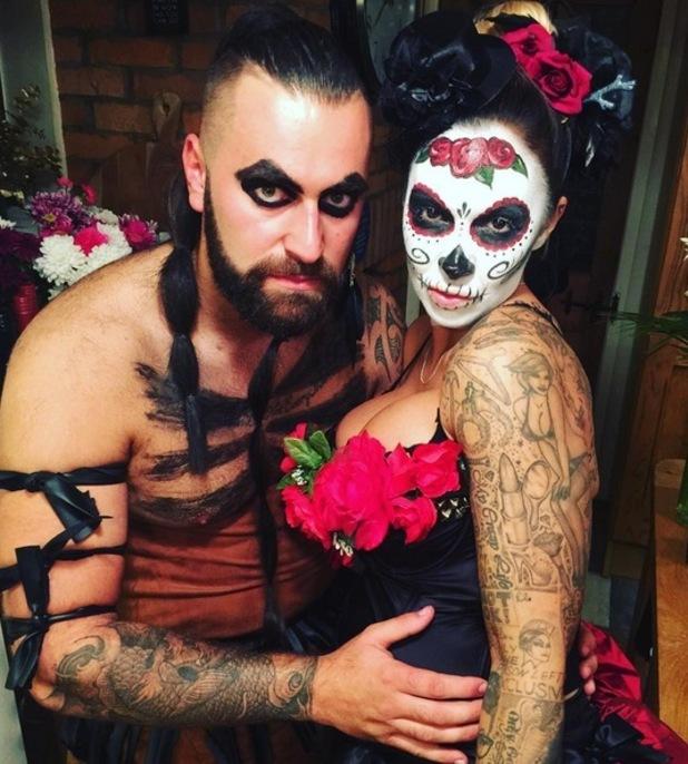 Jodie Marsh and husband James Placido dress up for Halloween 1 November