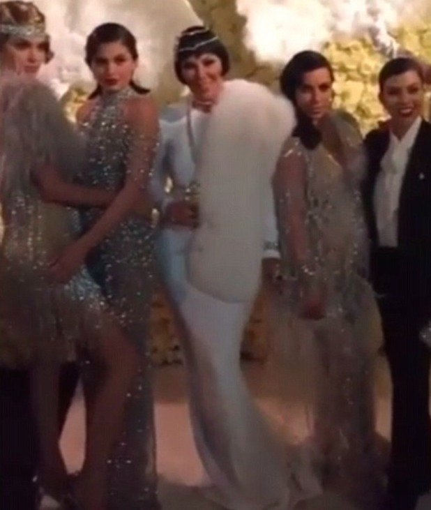 Kylie Jenner shares photos of her mum Kris' 60th birthday party, 6 November 2015.