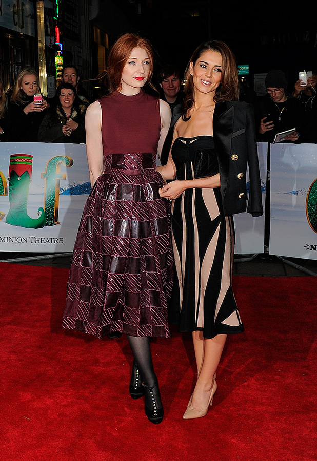 Cheryl Fernandez-Versini and Nicola Roberts attend Elf The Musical - gala night at Dominion Theatre. London. UK 5 Nov 2015