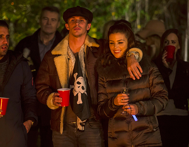 'The Only Way is Essex' cast filming, Britain - 01 Nov 2015 Jake Hall and Chloe Lewis.