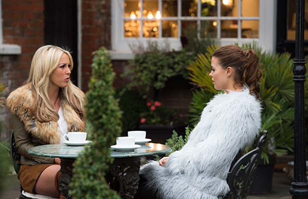 'The Only Way is Essex' cast filming, Ongar, Britain - 29 Oct 2015 Chloe Lewis and Kate Wright