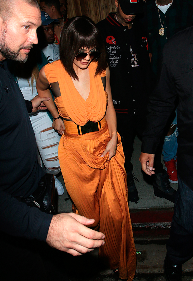 Kendall and Kylie Jenner leave The Nice Guy in West Hollywood after Kendall's Birthday Celebration Party