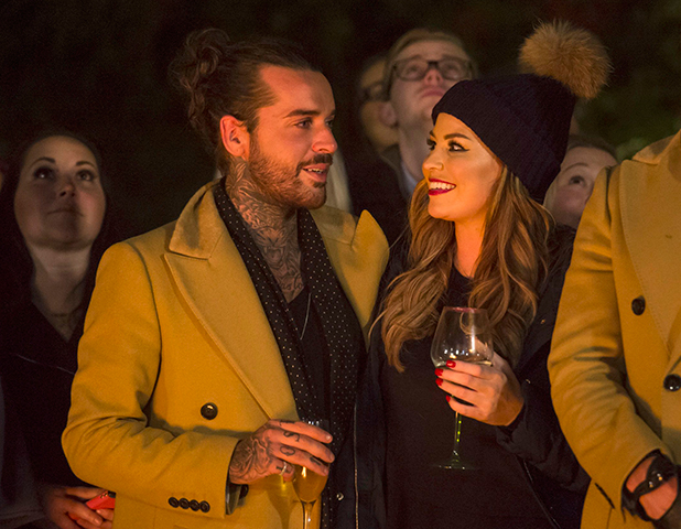'The Only Way is Essex' cast filming, Britain - 01 Nov 2015 Jessica Wright hands Peter Wicks his birthday present. A photo of him and Ernest his dog.