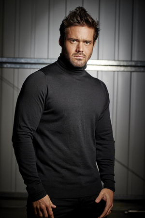 Spencer Matthews donned the iconic Milk Tray Man black polo neck and battled it out against celebrities in a star studded bootcamp, November 2015