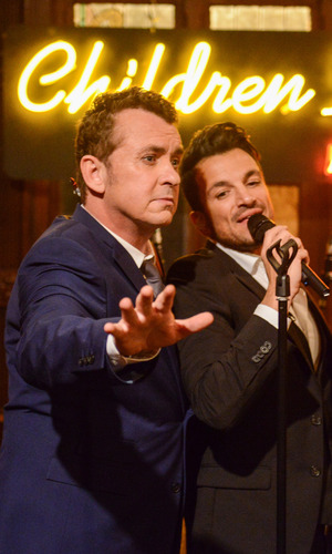 Peter Andre and Shane Richie on Children In Need, 13 November 2015.