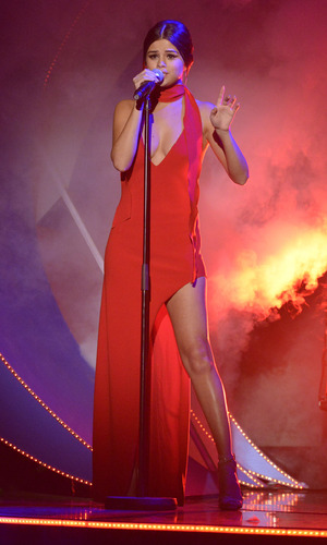 Selena Gomez performs on Children In Need, 13 N0vember 2015.