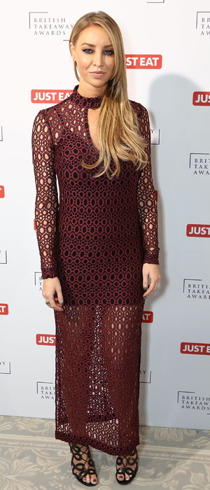Lauren Pope attends the British Takeaway Awards, in association with JUST EAT