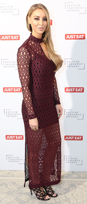 Lauren Pope at the Just East British Takeaway Awards 10th November 2015