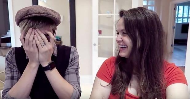 Tom and Giovanna Fletcher watch the John Lewis Christmas ad - 12 November 2015